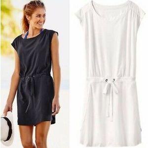 Athleta White Perfect Petal Dress